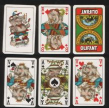 Collectible Advertising playing cards. Olifant beer, elephant court cards